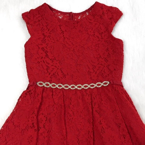6f69ff57e4e Red Lace Holiday Dress with Embellishment (10). M 5bee0fe4fe515142954a3d17